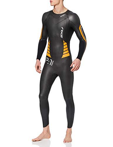 2XU P1 Propel Combinaison de plongée Homme, Noir/Orange Flamme, L
