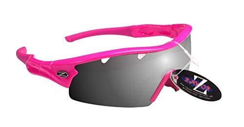 Gafas de sol para la nieve RayZor, 100 % protección UV400, con ventilación, cómodas y resistentes, antideslumbramiento, para esquís, moto de nieve y snowboard, RI220PISM-SK, Pink (220), adulto