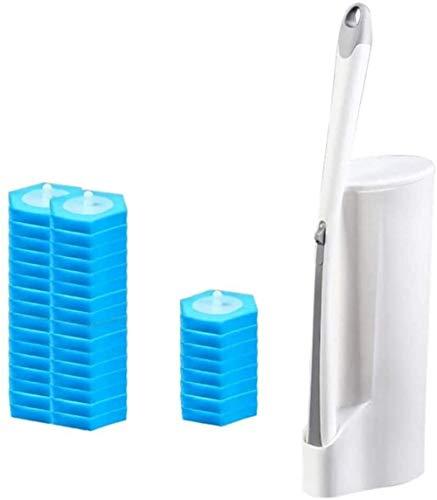 KEEBON El WC desechable Cepillo de Limpieza Cabeza y Holder, el Soporte y la Caja de Almacenamiento se integran, con no Deslizante de la manija Larga de plástico for baño WC Limpiador Profundo