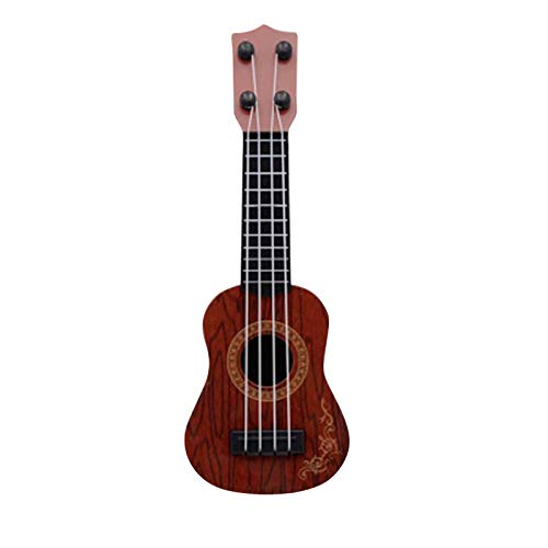 Spielzeug Ukulele Kleine Gitarrenmodelle Kinderspielzeug Gitarre Musikinstrument Geeigne Ukulelenspielzeug Musikaufklärung Gitarrenspielzeug Viersaitengitarre für Kinder *Messung: (26 x 10 x 4 cm)*