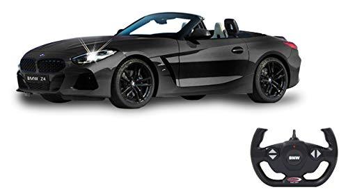 Jamara 405173 BMW Z4 Roadster 1:14 schwarz 2,4GHz Tür manuell-offiziell lizenziert, bis 1 Std Fahrzeit, ca. 11 Kmh, perfekt nachgebildete Details, detaillierter Innenraum, LED Licht