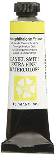 Daniel Smith 284600223 Extra Fine Watercolor 15ml Paint Tube, Quinophthalone Yellow