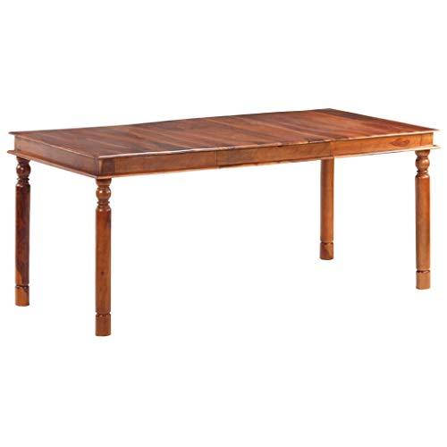 vidaXL Tavolo da Pranzo 180x90x76 cm in Legno Massello di Sheesham