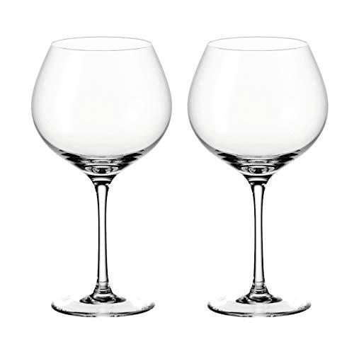Leonardo Gin Kelch-Gläser Set, 2 Stück, Cocktail-Glas mit Stiel, spülmaschinenfeste Likör-Gläser, Gin-Kelche, 630 ml, 069420