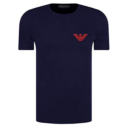 Emporio Armani Herren-T-Shirt 111035 0A526, Rundhalsausschnitt, kurzärmlig Gr. XL, dunkelblau