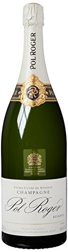 Champagne Pol Roger White Foil Brut, Jeroboam, 1er Pack (1 x 3 l)