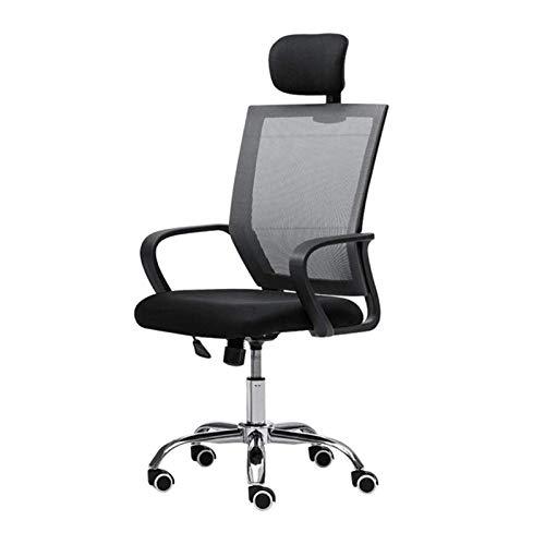 DJDLLZY Sedia da Ufficio, ergonomica con Schienale Alto scrivania Sedia - Poggiatesta Regolabile con Tilt Funzione, Supporto Lombare, Girevole del Computer Sedia di operazione (Nero)