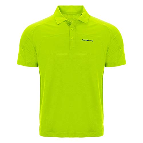 Trangoworld Aldan Polo Homme, Jaune-Vert Lime, L