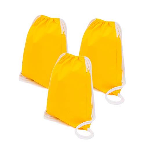 S.IKRR Gymtas voor kinderen, 3 stuks, waterdichte sporttas, waterdicht polyurethaan rugzak, voor jongens en meisjes, kinderverjaardag