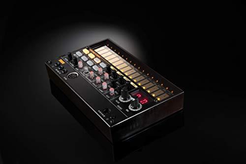 KORGアナログリズムマシンvolcabeats16ステップシーケンサー電池駆動スピーカー内蔵ヘッドフォン使用可どこでも使えるコンパクトサイズ