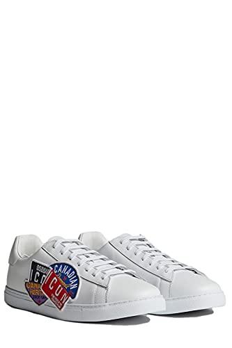 Dsquared2 Zapatillas Deportivas para Hombre Canadian Icon New Tennis Modelo SNM000501503859 Color Blanco (Numeric_40)