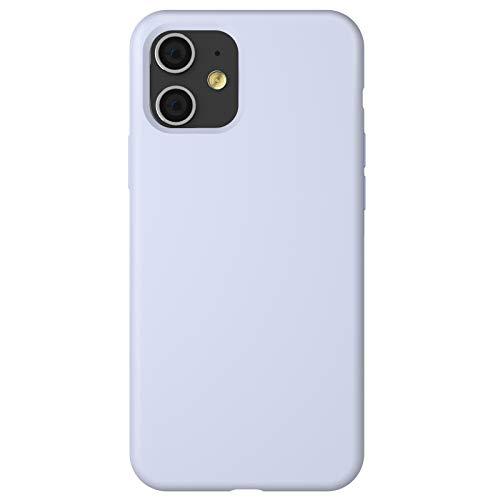 "ZhinkArts Silikon Handyhülle kompatibel mit Apple iPhone 11-6,1\"" Display - Schutzhülle Case mit Mikrofaser Innenfutter - Hülle in Flieder - Lila"