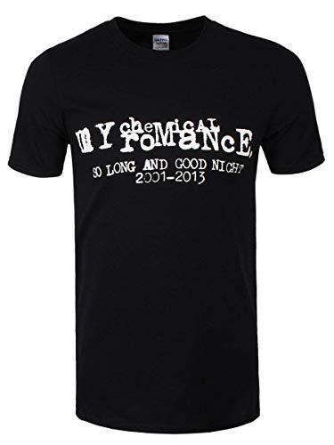 My Chemical Romance Men's So Long & Good Night MCR T-shirt Black