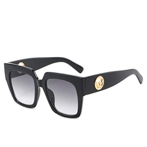UKKD Moda Cuadrado Gafas De Sol Mujeres Hombres Vintage Retro De Gran Tamaño Las Mujeres Gafas De Sol Sombras Femenina Uv400