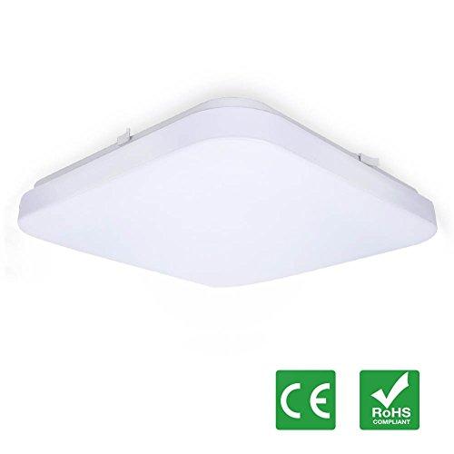 LED Deckenlampe, Tonffi 24W LED Deckenleuchte Wohnzimmerlampe Esszimmerleuchte Badleuchte Feuchtraumleuchte Kellerleuchte Rechteck