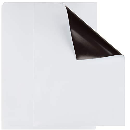 Magnetische, Trocken Abwischbare Whiteboard-Folie (5 Stück) - Magnetfolie für Notizen, Menüplaner, Termine am Kühlschrank - Weiß, 22,9x 30,5cm