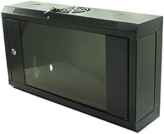 "CNAweb 6U 19"" Slim SoHo Wall Mount Rack Cabinet Enclosure 6"" Depth - Black"