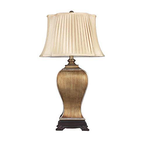 Lámpara Escritorio Lámpara de mesa, lámpara de mesa de resina retro, lámpara de mesita de noche para dormitorio, lámpara de mesa de gran tama?o, accesorio de iluminación para el hogar (puerto de torni