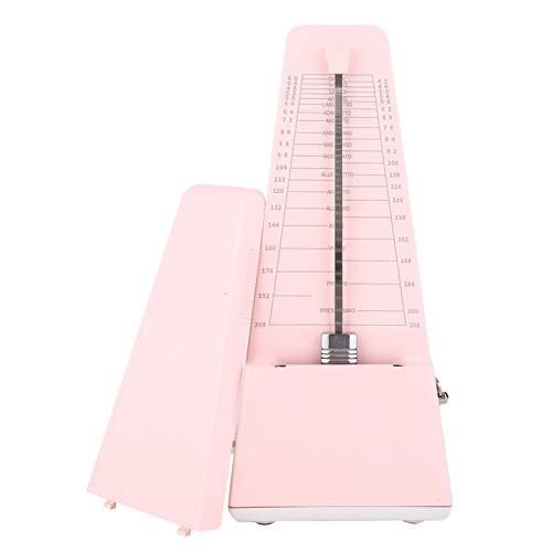 Metronomo, Metronomo meccanico Metronomo Nucleo meccanico in metallo per violino Pianoforte Chitarra Accessori per strumenti musicali generali con robusto alloggiamento in ABS(rosa)