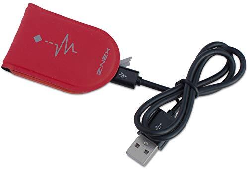 Z:NEX Aufladbarer USB LED Magnet Clip. Hell Leuchtend - perfekt für optimale Sichtbarkeit in der Nacht und bei schlechten Lichtverhältnissen