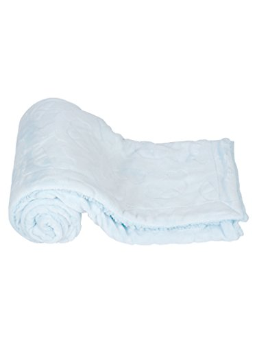 Mee Mee Soft Baby Blanket (Double Layered - with Embossed Printing, Blue Cars)
