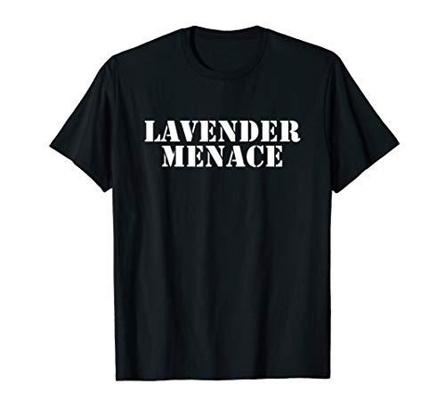 Retro Lesbian Feminist Lavender Menace T-Shirt