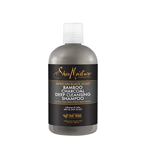 Sheamoisture Shea Moisture African Black Soap Bamboo Charcoal Deep Cleansing Shampoo (Pack of 2)