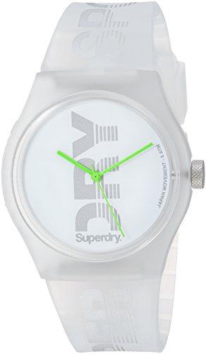 Superdry Damen Analog Quarz Uhr mit Silikon Armband SYL189WE