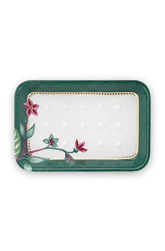 PiP Studio Soap Dish Jambo Flower Green 14x9.5x2cm