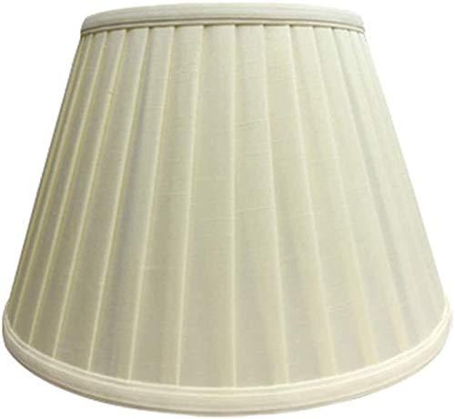 CattleBie E27 Ronda de Lino Pantalla, 100% Puro lámpara de Mano Pantalla de Noche Lámpara de Pared Lámpara de pie Lámpara Pantalla de Tela (araña. 11CM-50CM) (Color : Beige, Size : 18CM×30CM)
