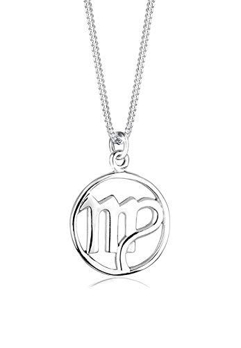 Elli Halskette Damen Sternzeichen Jungfrau in 925 Sterling Silber