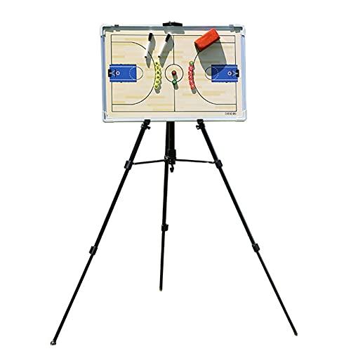 Tipo de Soporte Tablero Táctico de Baloncesto Magnético, Tablero de Demostración de La Junta de Enseñanza del Entrenador de Baloncesto, Fácil de Llevar, Reescribible (Color : UNA)