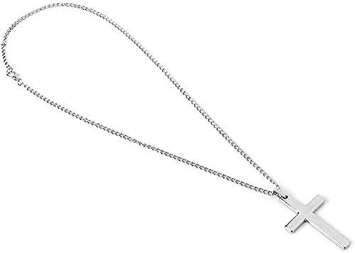 LLJHXZC Collar Estilo Hip-Hop Hombres S Cruz Colgante Collar Cadena Cadena Collar Personalidad Encanto Joyería
