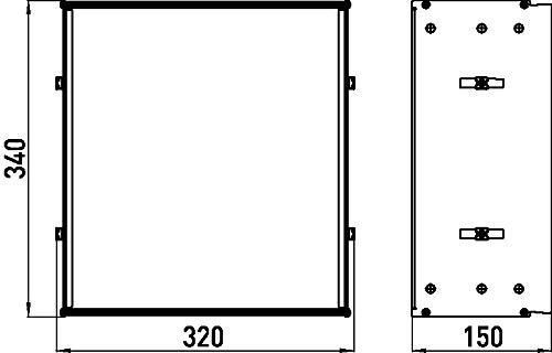 Emco Asis 300 inbouwframe, voor inbouwkasten Asis, voor kastmodules met een hoogte van 964 mm - 977000061