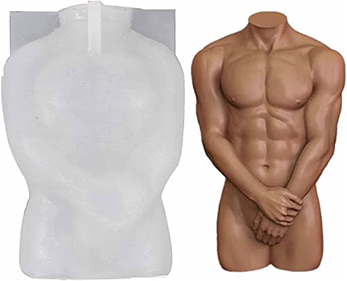 ZGHYBD Human Body Silicone Mold,Silicone Body Candle Mold for Men and Women, 3D Human Body Silicone Epoxy Resin Mold for Aromatherapy Wax Paste Soap, DIY Craft Gift Making Tool (Men)