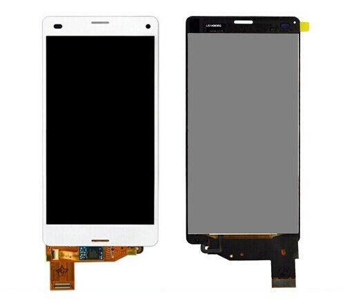 P-MANIAD Sony Xperia Z3 Compact D5803/So-02G/Z3 Mini 修理交換用フロントパネル (フロントガラスデジタイザ) タッチパネル 液晶パネルセット (白)
