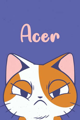 Acer: Funny Cat Notebook, Lined Journal, Perfect gift for Cats Lovers,120 Pages