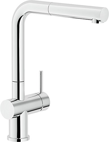 Nobili rubinetterie LV00117CR Live Miscelatore Monocomando per Lavello da  Cucina con Doccia Estraibile e Doccetta Monogetto, Diametro 28, Cromo