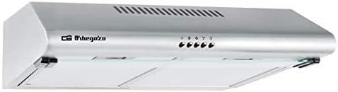 Orbegozo ST 07260 D IN - Campana extractora standard, 2 motores de 60 W, 3 niveles de potencia, 2 filtros de aluminio desmontables, extracción 347.4 m3/h, iluminación LED