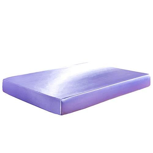 HAIBA Comfortabele nachten effen geverfd poly katoen hoeslaken of kussen paar, stapelbed - zwart, 198cmx203cm+30cm