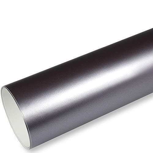 Rapid Teck® 9,86€/m² AutoFolie Serie 560MG ColorShift Matt Chrom Satin Grau 1m x 1,52m Premium Car Wrapping Folie mit Luftkanal