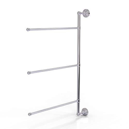 "Allied Brass WP-27/3/16/28 Waverly Place Collection 3 Swing Arm 28 Inch Vertical Towel Bar, 28"", Polished Chrome"