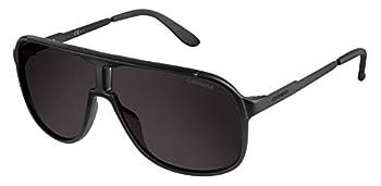 Carrera New Safari/S Pilot Sunglasses Matte Black,Shinny Black & Brown Gray 62 mm