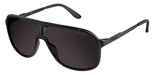 Carrera Unisex-Adult New Safari/S Sunglasses, Matte Black,Shinny Black & Brown Gray, 62 mm