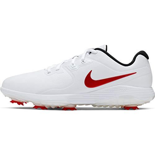 Nike Herren Vapor Pro Golfschuhe, Mehrfarbig (White/University Red/Black 000), 41 EU