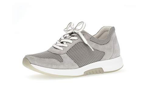 Gabor Damen Low-Top Sneaker 26.946.40, Frauen Halbschuh,Sportschuh,Schnürschuh,atmungsaktiv,Light Grey,38.5 EU / 5.5 UK
