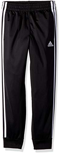 adidas Boys' Little Tricot Jogger Pant, Iconic Black, 6