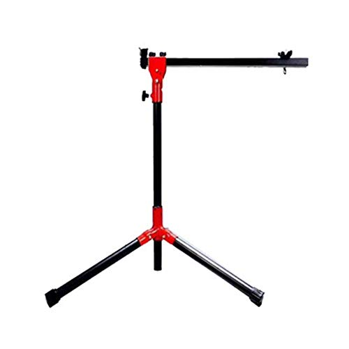 CuteLife Bike Repair Stand Bike Repair Stand Extensible Tripod Base Park Tool Repair Stand For Road & Mountain Bikes for Mountain and Road Bikes (Color : Red, Size : 64cm-102cm)