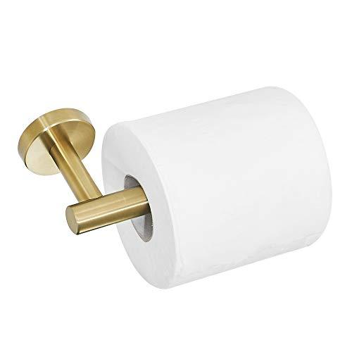 WOMAO WC Toilettenpapierhalter Rollenpapierhalter aus Edelstahl, Neuartig Gebürstet Gold Finished Toilettenrollenhalter Rostfrei zum Bohren