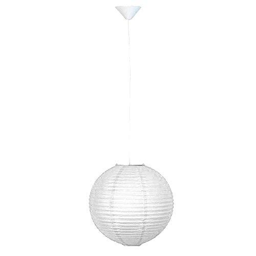 Sphère de plafond en papier sphère spot blanc lampe de chambre suspendue blanche Brilliant 71170A05